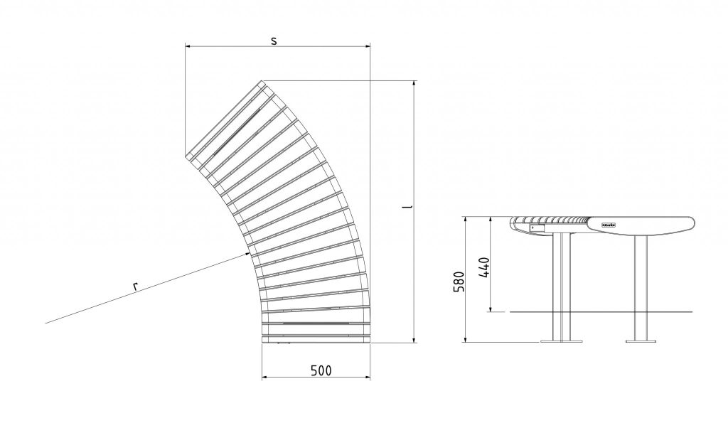 Urbania Sitzbank Foca Spirala 8