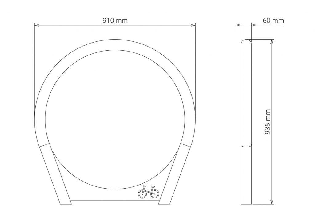 Urbania Fahrradständer Tubo 5