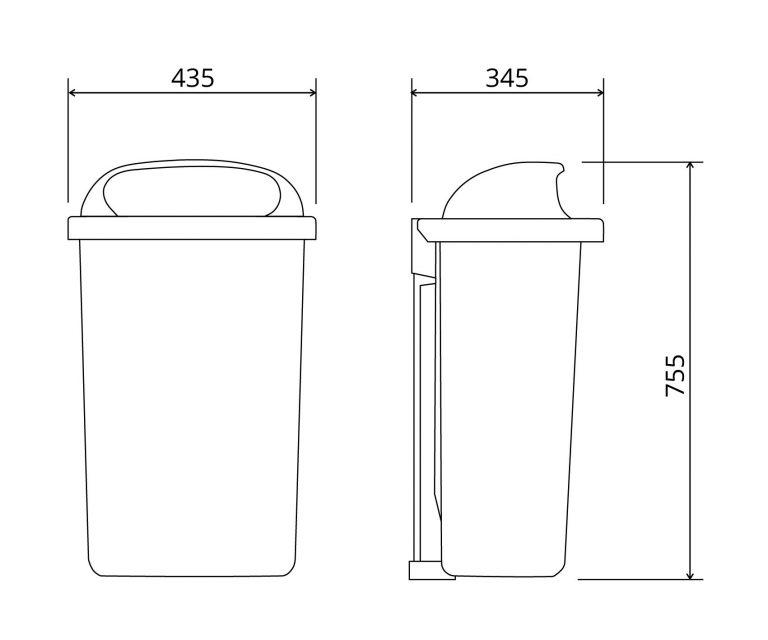 Abfallbehälter Classic 6